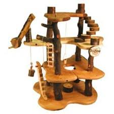 Cat Treehouse Recycled Wood Tree House Cool Hunting