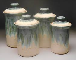 pottery canisters kitchen 100 ceramic canisters for kitchen botanical fruit kitchen
