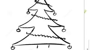 christmas tree sketches christmas drawn hand tree full size of