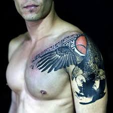 eagle tattoos for men on shoulder men eagle tattoo ideas