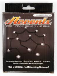 Christmas Window Decorations Battery Operated by Led String Lights 12 Ct 6 Ft Battery Operated Accents