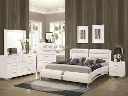 Upholstered Headboard Bedroom Sets Furniture Delightful Modern White Glossy King Bedroom Set With