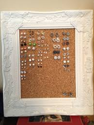 earring holder for studs diy earring holder a frame with plastic needlepoint canvas