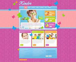 website template kinder children take custom design care parents