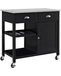 black kitchen island with stainless steel top here s a great price on kitchen island threshold stainless steel
