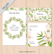 wedding invitations freepik floral wreath wedding invitation vector free
