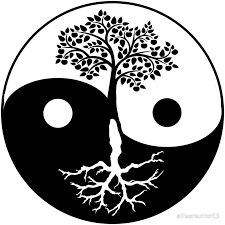 yin yang tree of canvas prints by allisonsutton13 redbubble