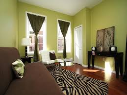 warm and cool living room at once at awesome colorful gallery for