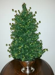 decorating flocked tabletop tree battery operated