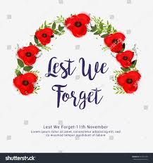 creative illustrationposter banner remembrance day canada stock