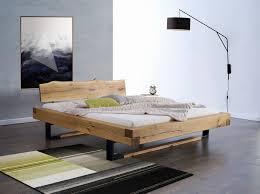 chambre en chene massif lit en chêne massif collection prestige avec support en métal b3