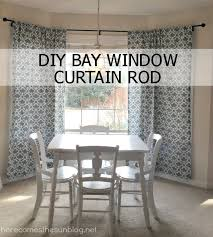 Window Rods For Curtains Diy Bay Window Curtain Rod For Less Than 10 Diy Bay Window