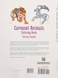 carousel animals coloring book dover coloring books christy