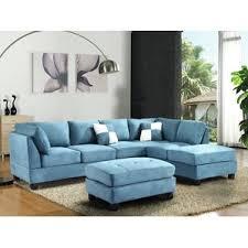 navy blue velvet sectional wayfair