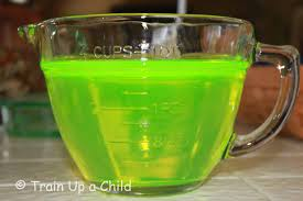 train up a child how to make glow water for lots of things