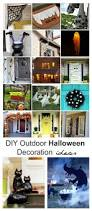 Outdoor Halloween Decor by Diy Outdoor Halloween Decorations The Idea Room