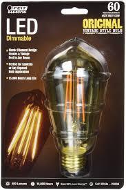 feit bpst19 led 60w 466 lumen 2200k led vintage light amazon com