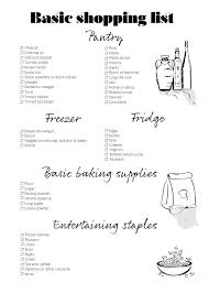 this basic shopping list will make stocking your pantry a breeze