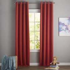 Geometric Orange Curtains Orange Curtains U0026 Drapes You U0027ll Love Wayfair