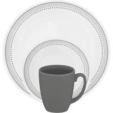 Corelle 12 Piece Dinnerware Set Corelle Livingware Mystic Gray 16 Piece Dinnerware Set Walmart Com