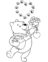 winnie the pooh bear coloring pages coloring home