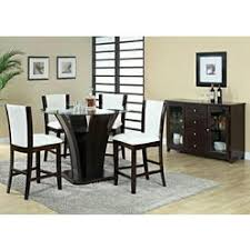 coaster counter height dining table with glass top