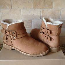 s ankle ugg boots ugg aliso chestnut suede buckle ankle boots womens us 11 ebay
