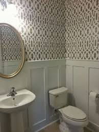 bathroom stencil ideas walls painted with both elizabethan and bespoke designs folding