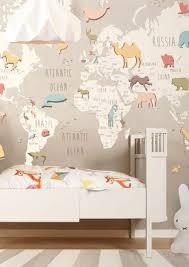 world map wallpaper kids room