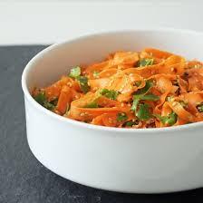sesame ribbon spicy sesame carrot salad popsugar food
