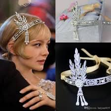 1920s hair accessories lapper 1920s great gatsby tiaras hair accessories party prom