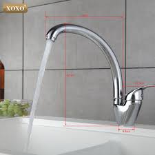 xoxo 360 degree rotation copper kitchen faucet single handle for