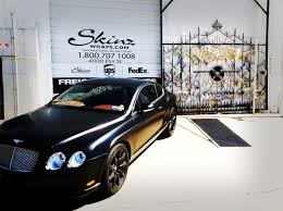 bentley suv matte black bentley continental gt wrap in black satin skinzwraps