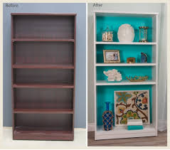 Colorful Bookcases Colorfully Behr Coastal Bookshelf Makeover