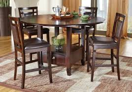 landon chocolate 5 pc counter height dining set dining room sets