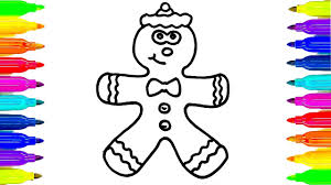 gingerbread men coloring pages black and white cartoon of