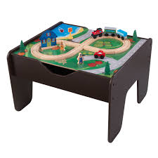 kidkraft 2 in 1 activity table with board espresso toys