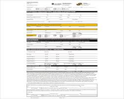 credit application form template free word pdf download