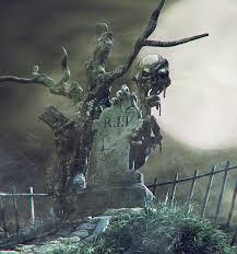 halloween graveyeard monster