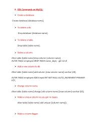 Alter Table Change Column Name Ddl Commands