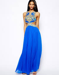 forever unique laila maxi dress with cutout waist and