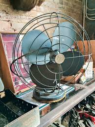 Antique Desk Fan by Architectural Salvage Shopping Trip The Hall Way