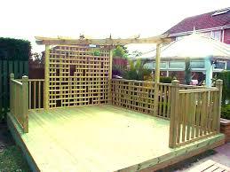 pergola with trellis fence craft decking leeds decking contractors in leeds
