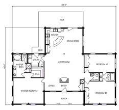 Spacious 3 Bedroom House Plans Copper Falls Log Home Plan By Jim Barna Log U0026 Timber Homes
