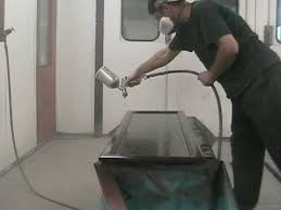 spraying kitchen cabinets how to spray paint kitchen cabinets youtube