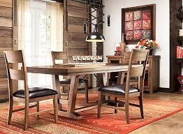 Kathy Ireland Dining Room Furniture Fenwick 5 Pc Dining Set Medium Brown Dark Brown Raymour