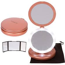 Small Vanity Mirror With Lights Iluminate Folding Makeup Mirror Lighted Vanity Mirror With Small