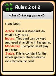 Meme Drinking Game - 4chan drinking game cards know your meme