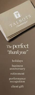 corporate gift cards talbots gift card content