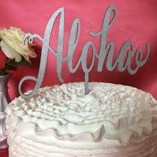 wedding cake topper aloha cake topper hawaii decor hawaii cake